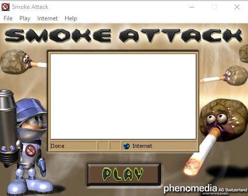 لعبة هجوم السجائر